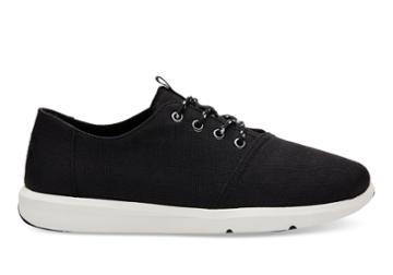 Toms Toms Black Poly Canvas Men's Del Rey Sneakers Shoes - Size 8