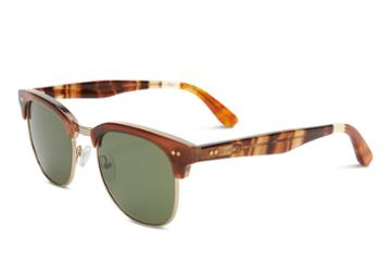 Toms Toms Gavin Honey Fade Sunglasses With Olive Gradient Lens
