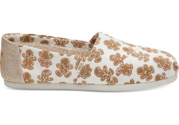 Toms Natural Canvas Sugarfrosted Gingerbread Women's Classics