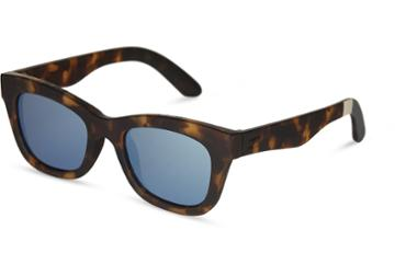 Toms Traveler By Toms Paloma Matte Blonde Tortoise Sunglasses With Deep Blue Mirror Lens