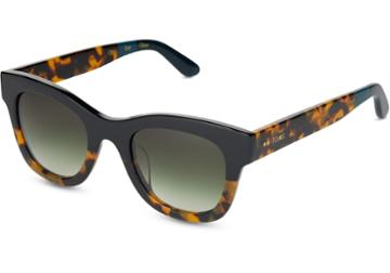 Toms Toms Chelsea Black Tortoise Fade Sunglasses With Olive Gradient Lens
