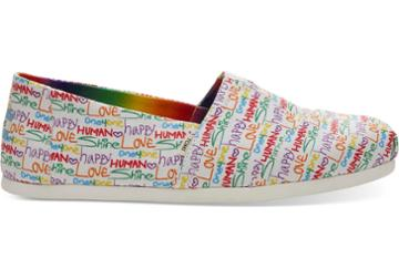 Toms Multi Unity Print Canvas Mens Classics