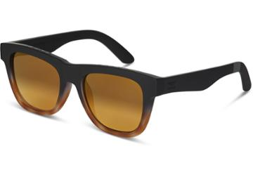 Toms Toms Dalston Matte Black Tortoise Fade Sunglasses With Gold Mirror Lens