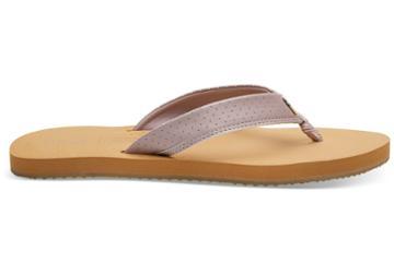 Toms Burnished Lilac Matte Iridescent Women's Gabi Flip-flops