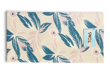 Toms Lilac Floral Canvas Sunglasses Case