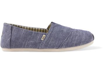 Toms Navy Rugged Canvas Mens Classics