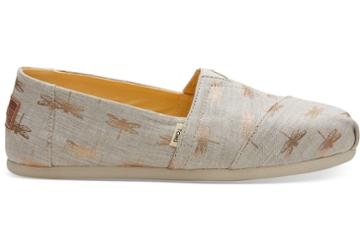Toms Gilded Gold Dragonflies Women's Classics