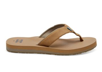 Toms Toffee Brown Men's Carilo Flip-flops