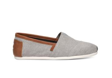 Toms Frost Grey Chambray Men's Classics