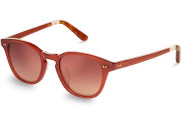Toms Toms Wyatt Spice Bronze Double Gradient Mirror Lens Sunglasses With Brown Gradient Lens