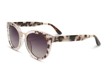 Toms Toms Yvette Black White Lamination Sunglasses With Violet Brown Gradient Lens