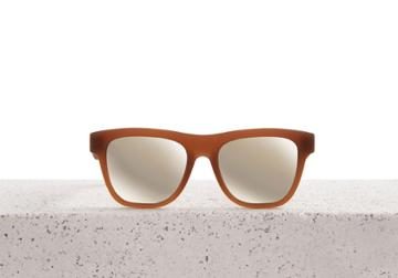 Toms Traveler By Toms Women's Dalston Matte Umber Sunglasses With Ivory Mirror Lens