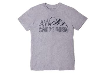 Toms Carpe Diem Heather Grey Short Sleeve Crew Tee