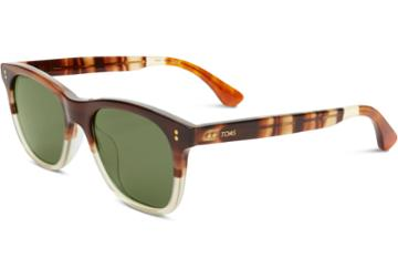 Toms Toms Fitzpatrick Honey Fade Sunglasses With Olive Gradient Lens