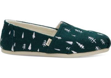 Toms Spruce Felt Trees Embroidered Women's Classics