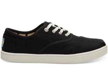 Toms Black Heritage Canvas Women's Cupsole Cordones Sneakers