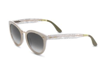 Toms Toms Yvette White Lace Sunglasses With Smoke Grey Lens