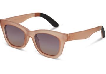 Toms Toms Paloma Matte Grapefruit Sunglasses With Navy Pink Gradient Lens