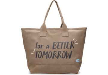 Toms Toms Desert Taupe For A Better Tomorrow All Day Tote Bag