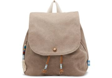 Toms Toms Desert Taupe Canvas Poet Backpack