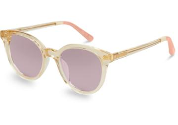 Toms Toms Aaryn Champagne Crystal Soft Purple Peach Gradient Lens Sunglasses With Violet Brown Gradient Lens
