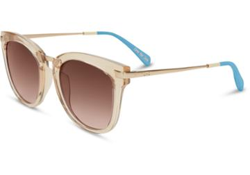 Toms Toms Adeline Matte Champagne Sunglasses With Brown Gradient Lens