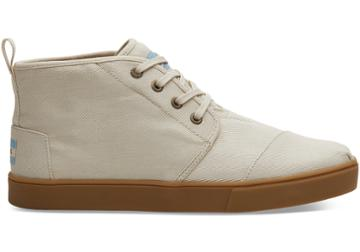 Toms Natural Textured Twill Cupsole Mens Botas