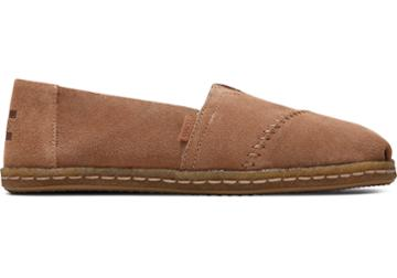 Toms Toffee Suede With Shearling Women's Alpargata Crepe Espadrilles