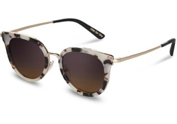 Toms Toms Rey Tokyo Tortoise Sunglasses With Violet Brown Gradient Lens