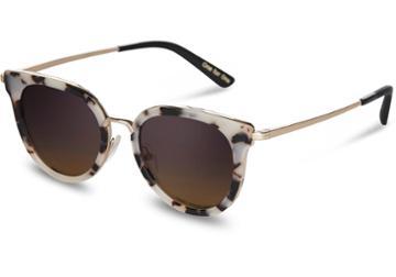 Toms Toms Rey Tokyo Tortoise Sunglasses With Violet Brown Gradient Lens