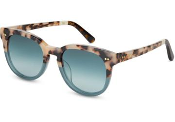 Toms Toms Dodoma 201 Cream Tortoise Teal Fade Sunglasses With Turquoise Gradient Lens