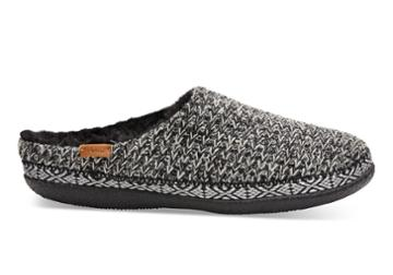 Toms Black And White Sweater Knit Women's Ivy Slippers