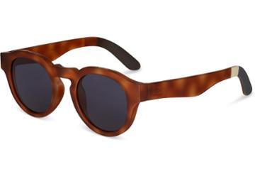 Toms Traveler By Toms Bryton Matte Honey Tortoise Sunglasses With Indigo Blue Lens