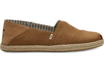 Toms Mustard Heritage Canvas On Rope Convertible Mens Classics