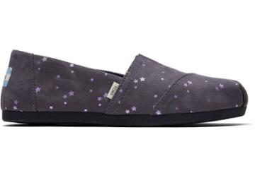 Toms Forged Iron Micro Fiber Foil Stars Women's Classics Ft. Ortholite