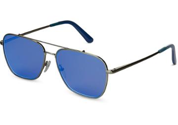 Toms Toms Irwin 201 Gunmetal Zeiss Sunglasses With Deep Blue Mirror Lens