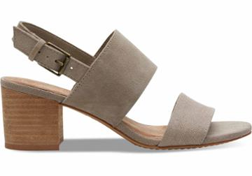 Toms Toms Desert Taupe Suede And Hemp Women's Poppy Sandals - Size 8.5