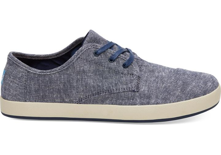 Toms Navy Slub Chambray Mens Paseo Sneakers