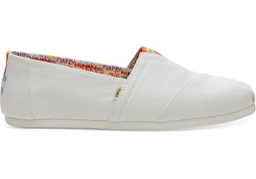 Toms White Canvas Unity Mens Classics