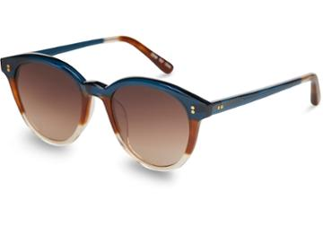 Toms Toms Aaryn Deep Teal Triple Lamination Brown Gradient Lens Sunglasses With Brown Gradient Lens