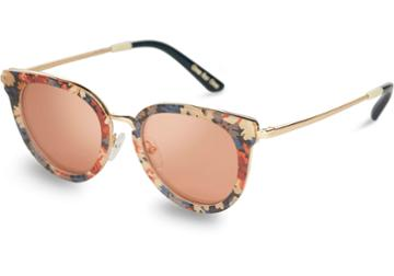 Toms Toms Rey Liberty Thrope Liberty London Peach Mirror Lens Sunglasses With Pink Mirror Lens