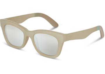 Toms Toms Paloma Matte White Asparagus Sunglasses With Mother Of Pearl Mirror Lens