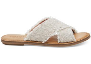 Toms Natural Metallic Jute Women's Viv Sandals