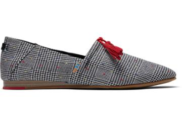 Toms Black Glen Dot Plaid Women's Kelli Flats