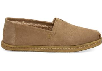 Toms Toffee Suede Faux Shearling Men's Classics