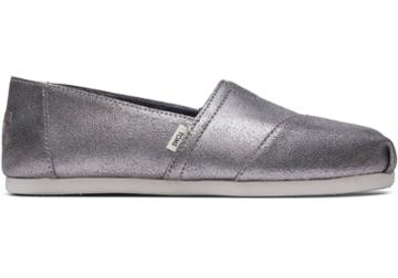 Toms Pewter Metallic Leather Women's Classics
