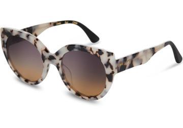 Toms Toms Luisa Tokyo Tortoise Sunglasses With Violet Brown Gradient Lens