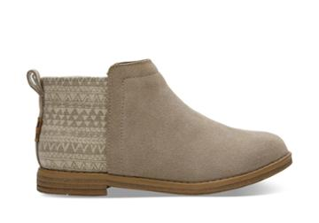 Toms Toms Desert Taupe Geo Deia Booties - Size 4