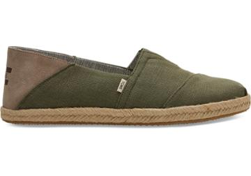 Toms Lichen Green Heritage Canvas On Rope Convertible Mens Classics