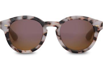 Toms Toms Bellevue Tokyo Tortoise Sunglasses With Violet Brown Gradient Lens